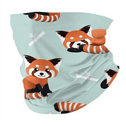 Lindo panda rojo de bambú para el cuello, gorros, cara de s