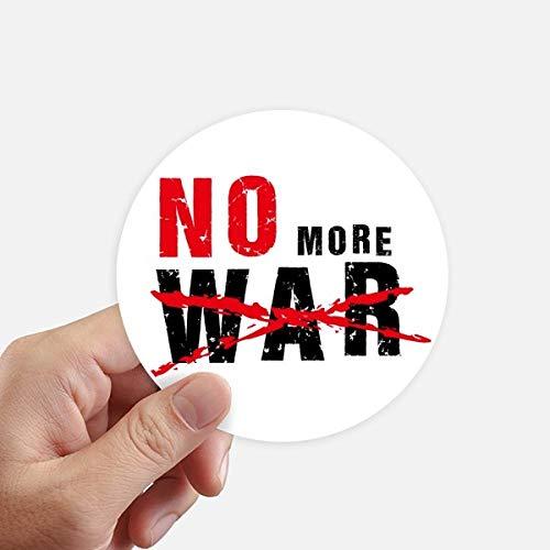DIYthinker No More War Love Peace Autocollants du Monde Rond 10CM Mur Valise pour Ordinateur Portable Motobike Decal 8Pcs diamètre 10cm Multicolor