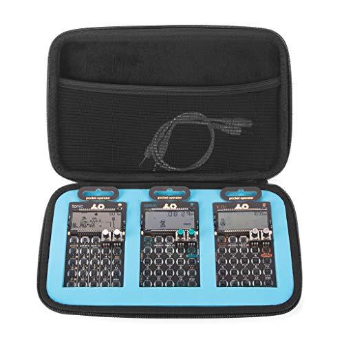 Analog Cases GLIDE Case para 3 Teenage Engineering Pocket Operators (estuche de transporte/bolsa de EVA/nylon de alta calidad, bolsillo de malla integrado), Negro