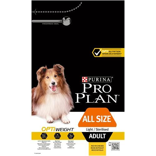 PURINA Pro Plan Comida Seco para Perro Adulto Todos los Tamaños con Optiweight, Sabor Pollo - 3 Kg