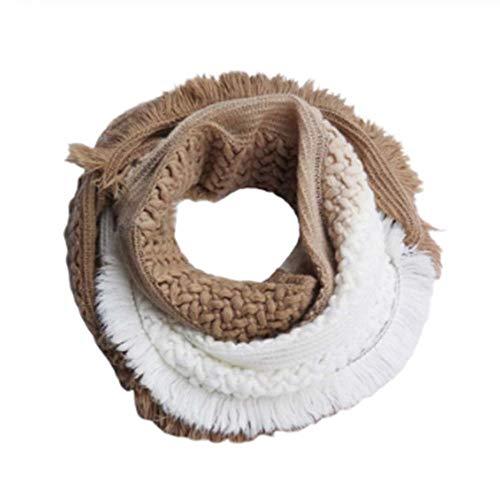 gao Vrouw Meisje Gradient Kleur Infinity Sjaal Fringes Kassen Trim Winter Haak Dikke Lus Verpakt Nek Warmer