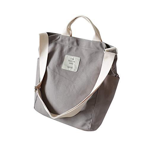 Bolso de mano de lona simple de gran capacidad fácil a juego de la mujer Satchel bolsos de lujo para el bolso de hombro del estudiante