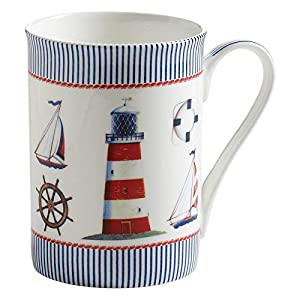 Maxwell & Williams S88003 Nautical Becher, Kaffeebecher, Tasse, Yachten, in Geschenkbox, Porzellan