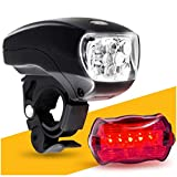 Posma BA-RL010 Bike Light,3 IN 1 Flashlights,4 Light Modes for Camping, Hiking and Emergency,2 pcs set