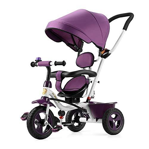 WENJIE Cochecito De Niños Bicicleta De Bebé Ligero Bicicleta Multifuncional Juguete De Pasajero De Paseo Adecuado for Niños De 1 A 6 Años. (Color : Purple)