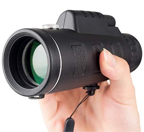 JLCN Monokulare Teleskope, 40x60 Hochleistungs-HD-Kompaktmonokular Für Erwachsene Und Kinder, Nachtsichtgerät Mit Wasserdichtem Zielfernrohr, Smartphone-Halterung, Telefonstativ Und BAK4-Prisma, FMC