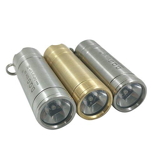 DQG Slim XP-G2 230LM 3Modes NW LED Mini LED Flashlight (Material Brass)