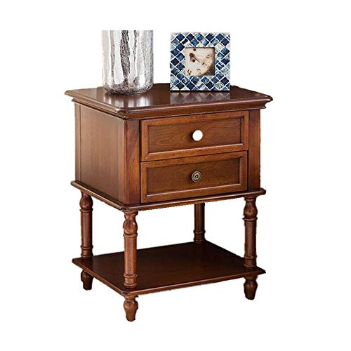 Buy OUPPENG Bedside Table Nightstands Solid Wood Nightstand with Drawers Wooden Side Cabinets Pastor...