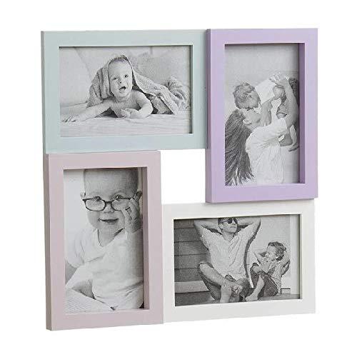 Dcasa Portafotos Multiple 4F Infantil Marcos de Fotos Decoración del hogar Unisex Adulto, Multicolor (Multicolor), única