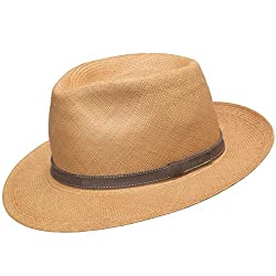 Ultrafino packable - foldable Fedora Panama straw hat in MOST sizes.  Natural be7b77ba97d