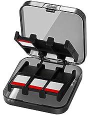 CamKix spelfodral för Nintendo Switch – Passar upp till 24 Nintendo Switch spel – skyddande förvaringssystem – spelkorthållarlåda – hårt skal med 24 kort/inlägg, 24 Games - Black (1 Case)