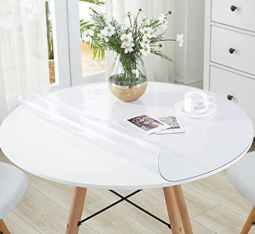 LLPEIJIE026 Mantel Redondo,PVC Table Protector Table Cover 1.5mm,Almohadillas de Escritorio,Impermeable Sin Sabor Mantel,Ideal para la Cocina, para el Comedor (110cm(43in))