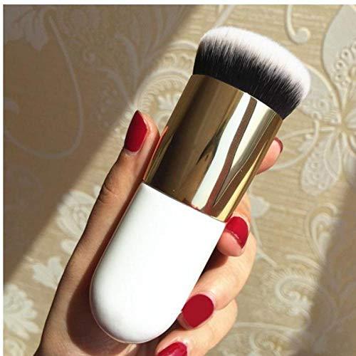 Llxhg Blush Brush Maquillage Brosses Chubby Pier Foundation Brush Brush Flat Cream Make Up Brushes Femme Surligneur Poudre Maquillage Outil Blanc