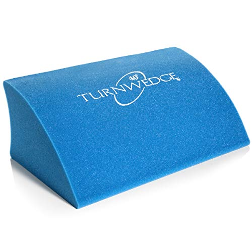 TurnWedge Standard 350LB - Bed Sore Sleep Wedge Pillow – Patented Contour Air Flow Curve Minimizes Skin Contact to Help Prevent Pressure ulcers. Non-Slip Pressure Sore Cushion Promotes Secure Comfort