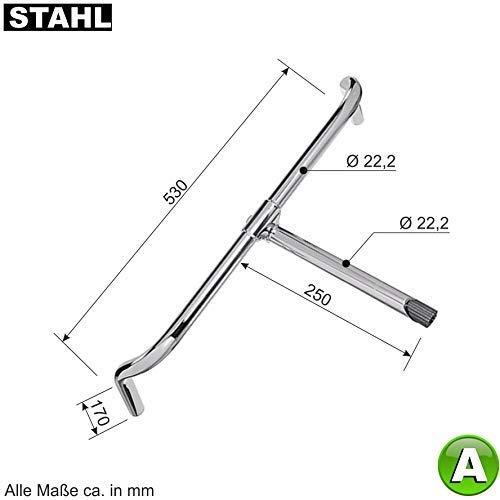 maxxi4you A Fahrradlenker Englisch Fahrrad Lenker Stahl verchromt Bügelbreite 530 mm