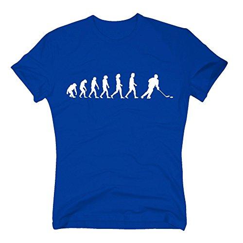 Herren T-Shirt - Eishockey Evolution - von Shirt Department, Royalblau-Weiss, M