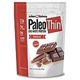 Julian Bakery Paleo Thin Protein Powder   Chocolate   Egg White   Soy Free   22g Egg White Protein   3 Net Carbs   2.18 LBS   30 Servings