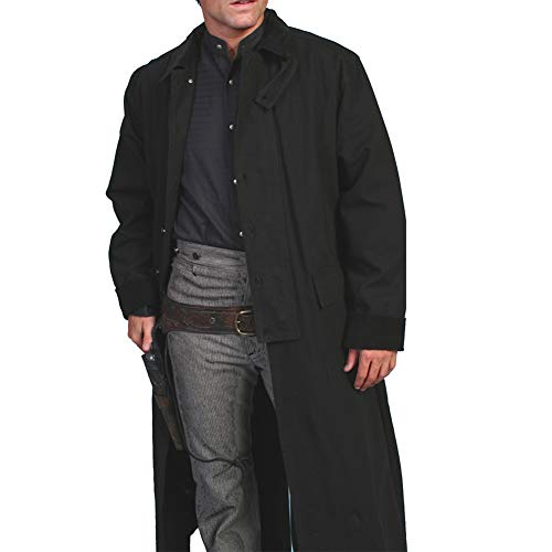 Rangewear By Scully Men's Long Canvas Duster Black Large