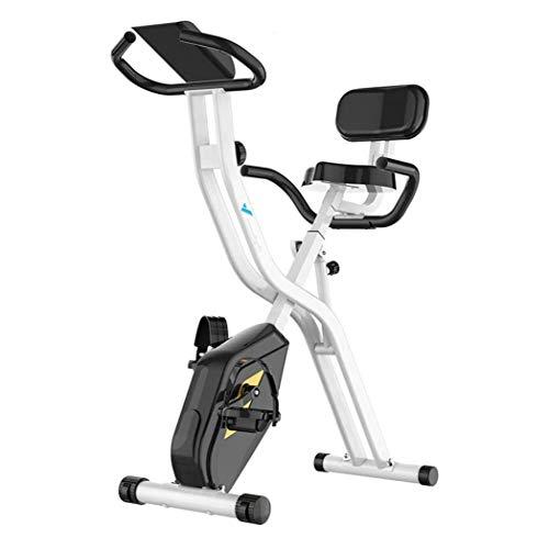 WJFXJQ Ciclismo Indoor Bicicleta estática Plegable Ajustable de Bicicleta de Ejercicios de Ajuste de la Resistencia, Multi-función de visualización del LCD for el hogar de Entrenamiento, 100 KG