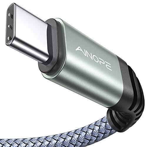 USB C Kabel [2 Stück & 2M ] Nylon Typ C Ladekabel Samsung S10/9/8 Note 9/8 Ladekabel für Samsung S10 S9 S8 Plus Note 10 9 8 A3 A5 2017 LG G5 G6 HTC 10 U11, Huawei P10 P9 usw