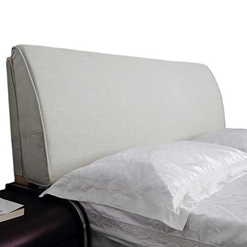 VERCART Wedge Pillow Bed Wedge Pillow Sofa Kopfkissen, Keilkissen,Rückenkissen, Fernsehkissen, Ergokissen Weich Lesekissen Stützkissen Bettkissen Beige 90x50x10cm