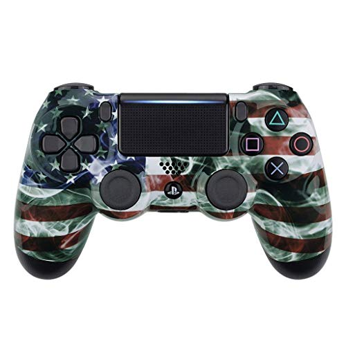 American Flag PS4 PRO Rapid Fire Custom Modded Controller 40 Mods for All Major Shooter Games & More (CUH-ZCT2U)