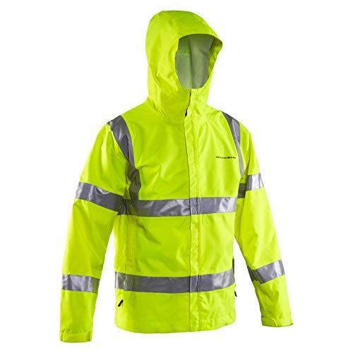 Grundéns Weather Watch Hooded Fishing Jacket, Reflective Yellow - X-Small