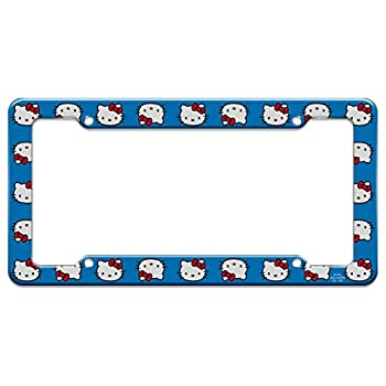 Graphics and More Hello Kitty Face License Plate Clear Frame