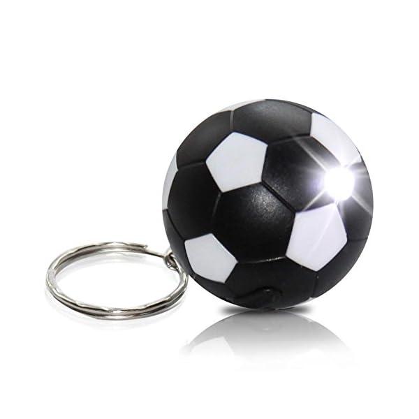 9-x-HC-Handel-911921-Schlsselanhnger-Taschenlampe-Lampe-Fussball-4-cm-sortiert