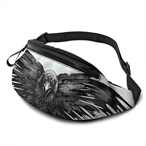 KANKANHAHA cintura cuervo espadas juego de tronos impresión digital 3D bolsos unisex moda mensajero bolsa deportes bolsillos