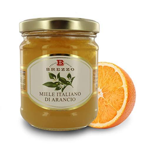 Brezzo Italienischer Honig, Orange, 12 Gläser à 250 g, insgesamt 3 kg.