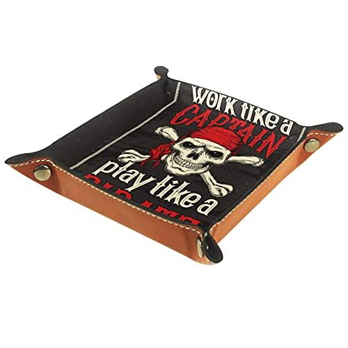Bandeja de cuero,Jugar como Pirate Red Band ,Bandeja de cuero plegable para...