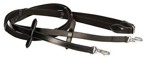Harry's Horse Teugels, webband, clipsluiting, Farbe:schwarz, Größe:Pony