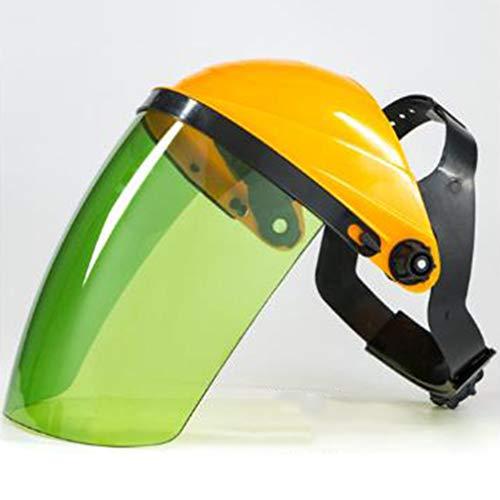 Weiy - Funda protectora transparente de seguridad, viseras para ojos, cara y cara, protector de ojos, pantalla para moler salpicaduras resistente a la saliva, PC, Amarillo 1, As Description
