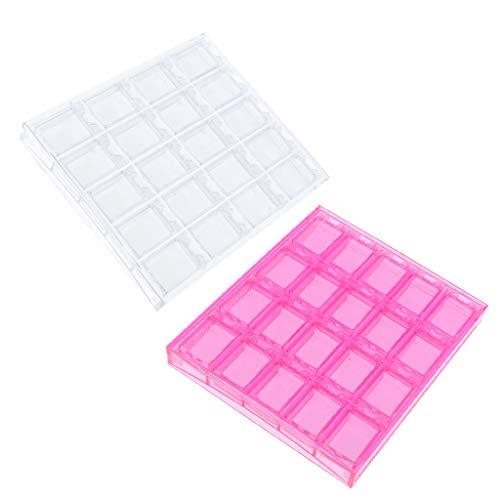 Sharplace 20 Compartiments Boîte Vide Rangement Faux Ongles Capsule Nail Art Manucure Plastique Stockage