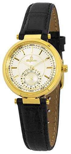Burgmeister Armbanduhr für Damen mit Analog Anzeige, Quarz-Uhr und Lederarmband - Wasserdichte Damenuhr mit zeitlosem, schickem Design - klassische, elegante Uhr für Frauen - BM336-272 Celina