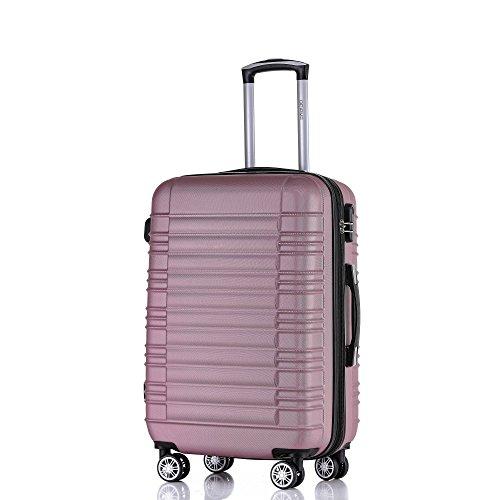 Maleta rígida Twin Rollers Maleta rígida, para viajes, con ruedas., rosa (Multicolor) - 2088