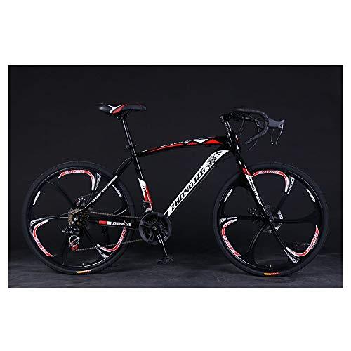 Mountain Road Bike, 21 Speed 700c Sport Aluminum Road Bike, Made in America (Black Red)