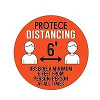 FINECI ステッカー 安全距離 ソーシャルディスタンス 5枚入り 表示シール 距離 ステッカー 群集コントロール サインステッカー マーク シール セフティ フロアステッカー 会社 病院 空港
