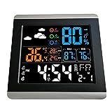 Baoblaze Reloj Despertador Digital LCD de Pantalla Grande 4X con Higrómetro de Calendario de Temperatura