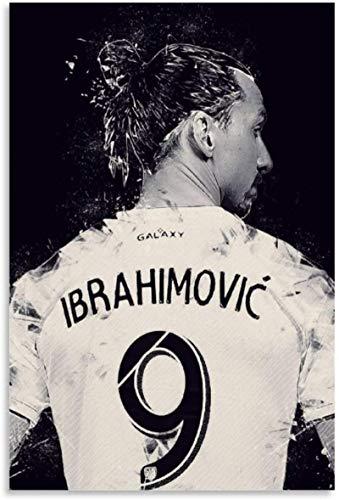 Luck7 Bild Auf Leinwand 50x70cm Kein Rahmen Fußballspieler Zlatan Ibrahimovic Stern Poster Dekorative Wohnzimmer Poster Schlafzimmer