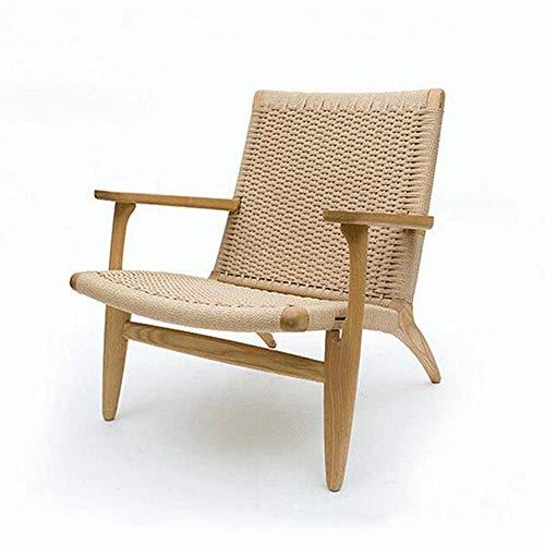 Chaise nordique chaise simple chaise de balcon chaise en rotin chaise d'extérieur en bois massif