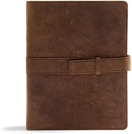 CSB Legacy Notetaking Bible Tan Genuine Leather with Strap product image