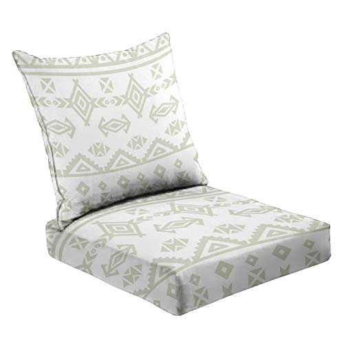 MVEMOEMCA Tribal Art Ethnic Seamless Pattern Folk Abstract Geometric repe Stock Deep Seat Cushion Set Plush Surface Backrest and Seat Cushion Outdoor Indoor Furniture Replacement Cushions