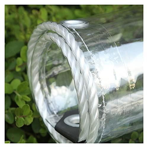 AWSAD Lona Plástico Transparente, Paño Lluvia Transparente al Aire Libre 0,3 Mm Lona del Parabrisas por Durable Impermeable Paño Cobertizo con Agujeros (Color : Clear, Size : 1.8Mx4M)