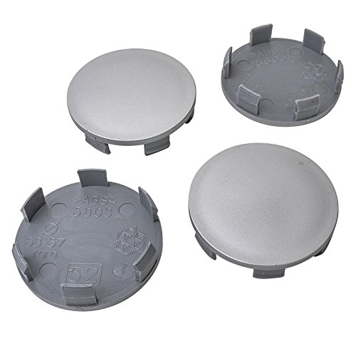 4x Nabenkappen 58 mm / 56,5 mm Nabendeckel Universal Kappen 58,0/56,5 mm Deckel Felgendeckel