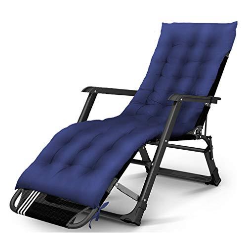 SACKDERTY Klappgarten Sonnenliege Liegestuhl mit Abnehmbarer Kopfstütze und Wattepad 200KG Gewicht Kapazität Solarium