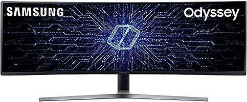"Samsung LC49HG90DMRXEN - Monitor Curvo Gaming 49"" (QLED, 2 x Full HD, 32:9, 144 Hz, 1 ms, HDR, 3000:1, 1800R, FreeSync)..."
