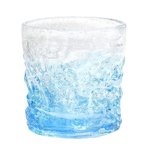 ロックグラス 琉球 ガラス グラス ほたる石 蛍入り (ホタル珊瑚グラス) 水