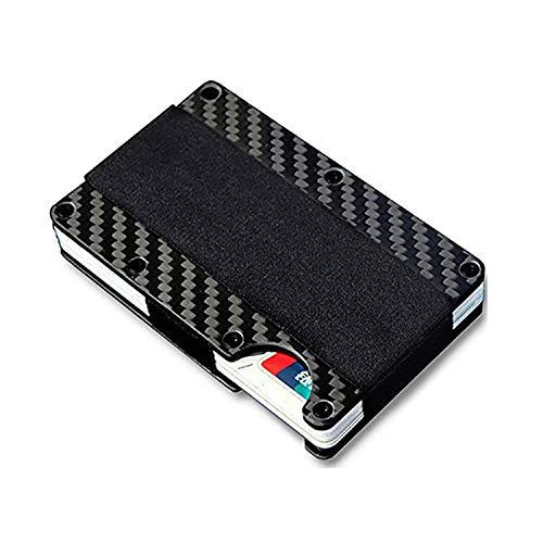 Mannen en vrouwen roestvrij staal koolstofvezel automatische kaart doos Credit Card Bag Portemonnee Ultra-dunne visitekaartje geval RFID anti-diefstal borstel